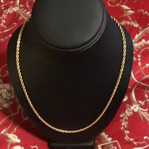 "14 Karat Gold rope necklace - approx 20"" long"